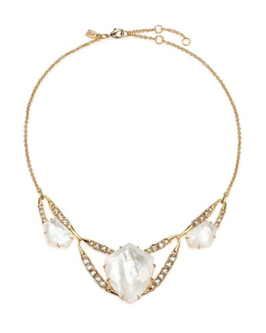 Alexis Bittar - Metallic Miss Havisham Mosaic Mother-of-pearl & Crystal Geometric Bib Necklace - Lyst