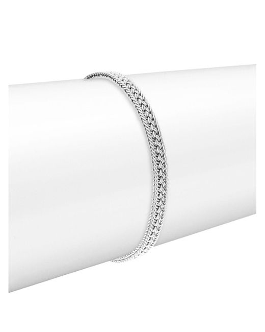 Lois Hill - Metallic Silver Classic Handwoven Bracelet - Lyst