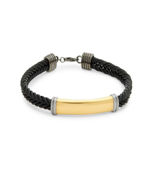 Effy - Metallic Sterling Silver And Leather Braided Bracelet - Lyst