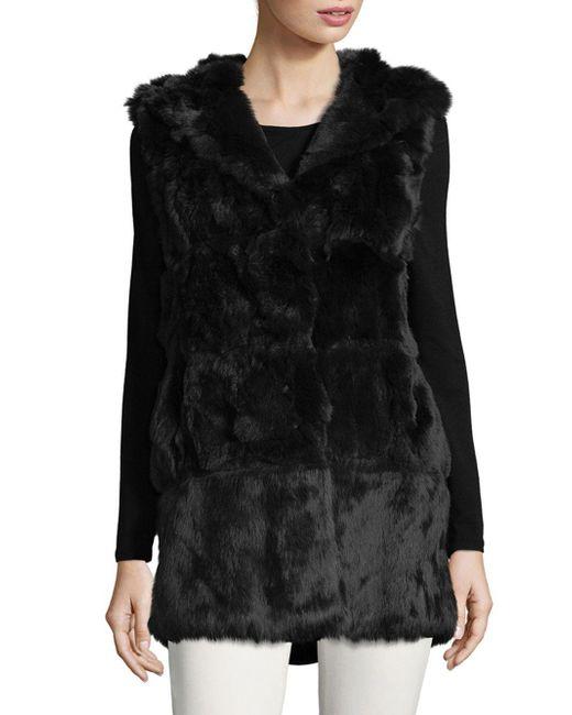 Belle Fare - Gray Plush Dyed Rabbit Fur Vest - Lyst