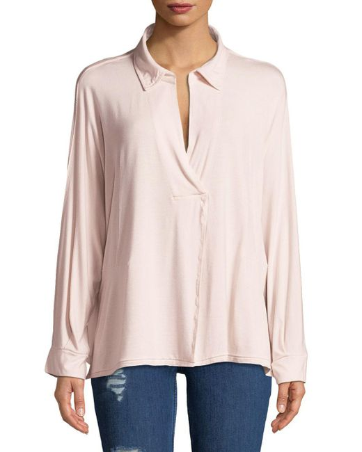 Free People - Pink Can't Fool Me Long-sleeve Tee - Lyst