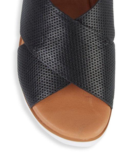 869cb931149c ... Gentle Souls - Black Prisca Perforated Platform Walking Sandals - Lyst  ...