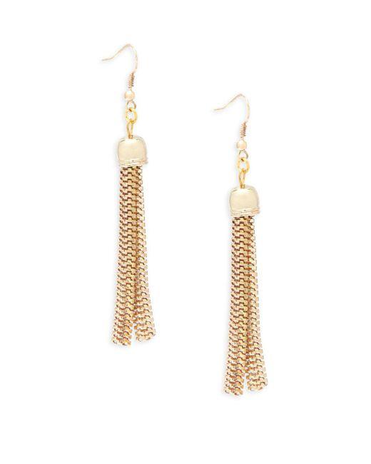 Kenneth Jay Lane | Metallic Fringed Linear Earrings | Lyst