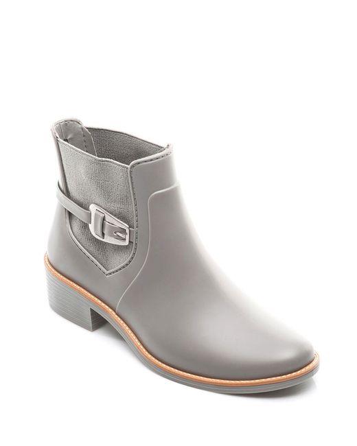 Bernardo - Gray Pansie Ankle Strap Rainboots - Lyst