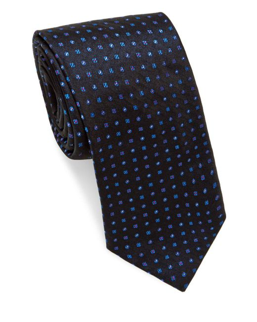 Brioni | Blue Multi Mini Dots Silk Tie for Men | Lyst
