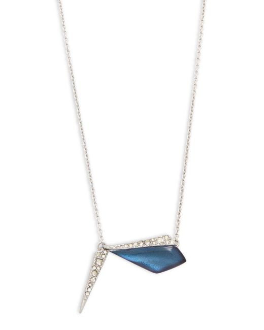 Alexis Bittar | Blue Swarovski Crystal & Lucite Pendant Necklace | Lyst