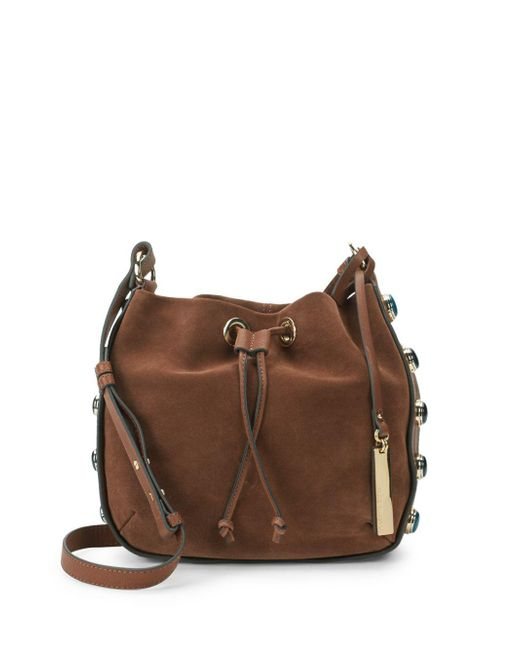 Vince Camuto - Brown Cab Leather Bucket Bag - Lyst
