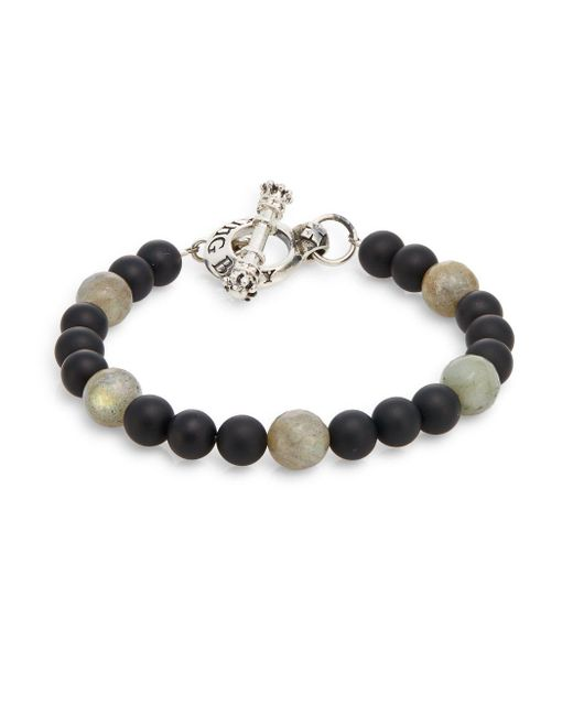 King Baby Studio - Multicolor Onyx, Labradorite & Sterling Silver Beaded Bracelet for Men - Lyst