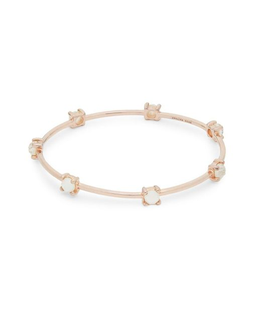Ippolita - Metallic Mother-of-pearl, Clear Quartz And Sterling Silver Bangle Bracelet - Lyst