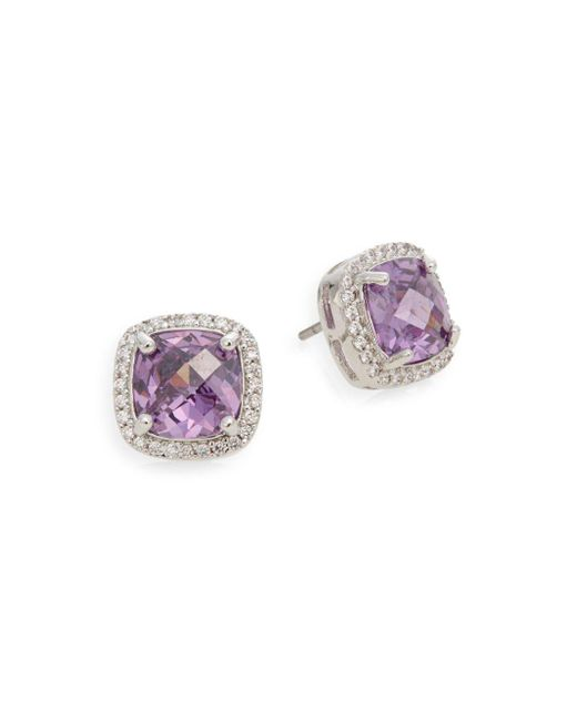 Saks Fifth Avenue | Metallic Pavé Stud Earrings | Lyst