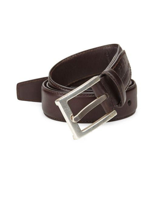 John Varvatos - Brown Leather Dress Belt for Men - Lyst