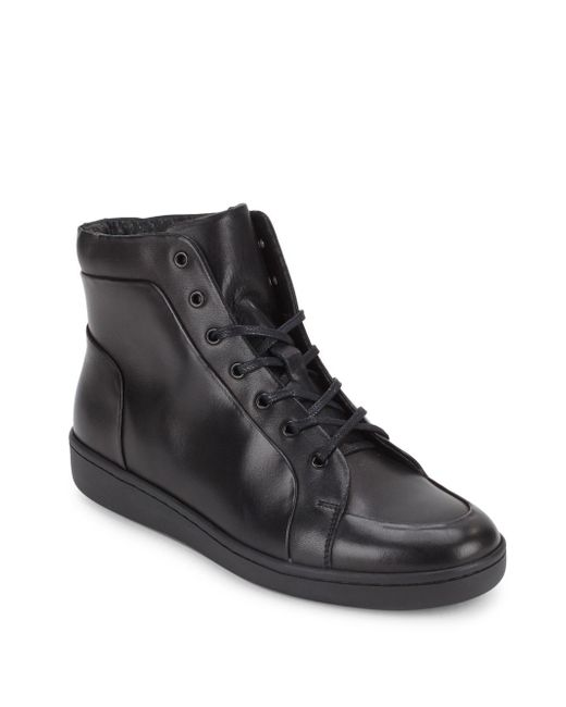 Kenneth Cole - Black Madison High-top Sneakers for Men - Lyst