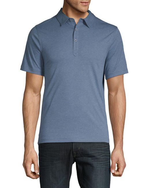 Saks Fifth Avenue - Blue Classic Cotton Polo for Men - Lyst