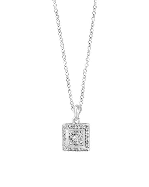 Effy - Metallic 14k White Gold & Diamond Pendant Necklace - Lyst