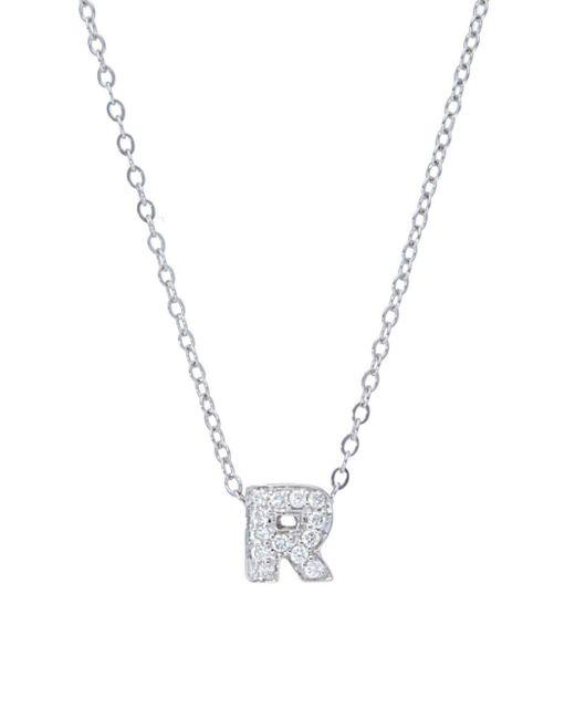Lyst nephora diamond 14k white gold initial pendant necklace in nephora metallic diamond 14k white gold initial pendant necklace lyst aloadofball Gallery