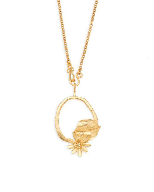 Stephanie Kantis - Metallic Aqua Flower Pendant Necklace - Lyst