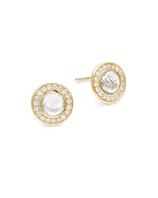 Ippolita - Metallic Lollipop 18k Yellow Gold Stud Earrings - Lyst