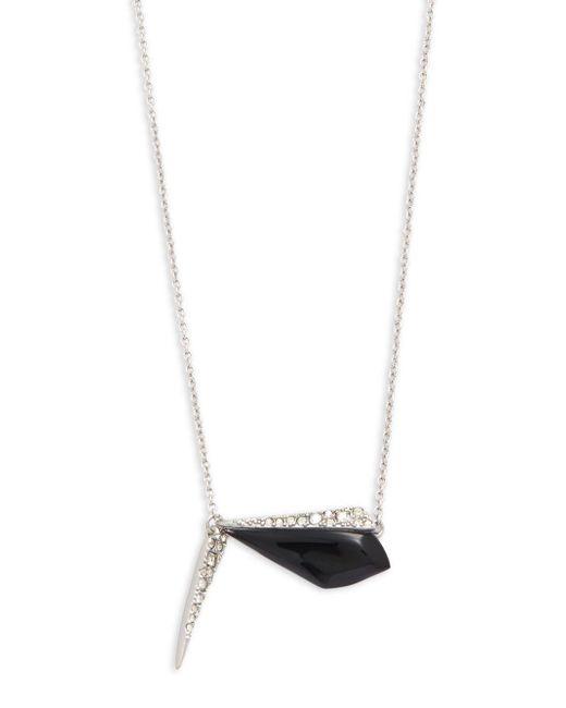 Alexis Bittar   Black Swarovski Crystal & Lucite Pendant Necklace   Lyst