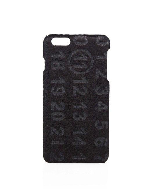 Maison Margiela Black Military Leather Iphone Case