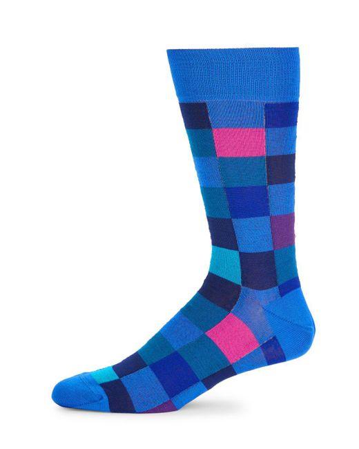 Bugatchi - Blue Polychromatic Socks for Men - Lyst