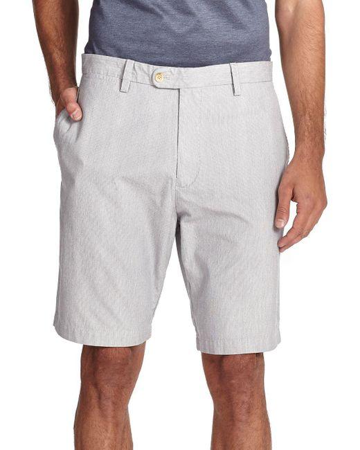 Saks Fifth Avenue - Blue Pincord Bermuda Shorts for Men - Lyst