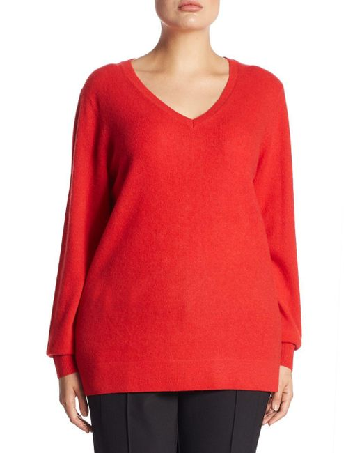 Saks Fifth Avenue - Red Collection V-neck Cashmere Knitted Sweater - Lyst