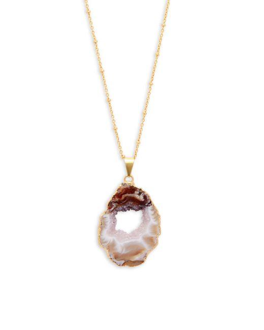 Alanna Bess - Metallic Agate Stone Pendant Necklace - Lyst