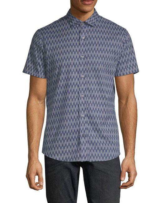 Slate & Stone - Blue Classic Printed Shirt for Men - Lyst