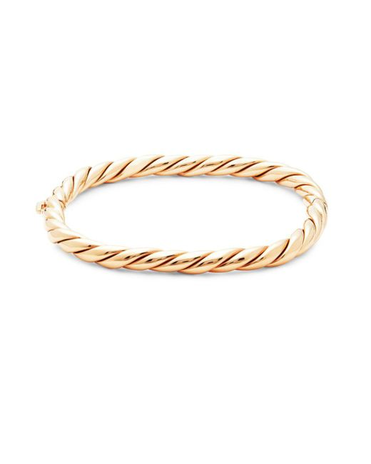 Roberto Coin - Pink Ruby And 18k Rose Gold Twist Bangle Bracelet - Lyst