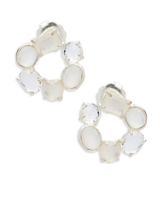 Ippolita - Metallic Rock Candy Mother-of-pearl, Clear Quartz, White Moonstone And Sterling Silver Mixed Stone Flirt Earrings - Lyst