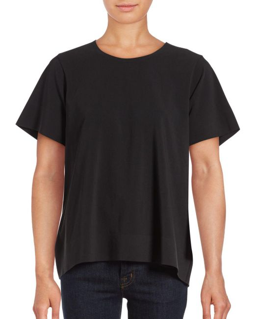 Cinq À Sept | Black Solid Piper Top | Lyst