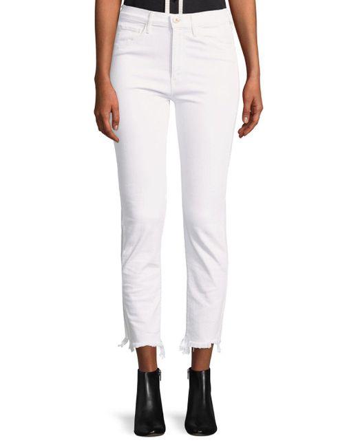 3x1 - White Raw-cuff Crop Jeans - Lyst
