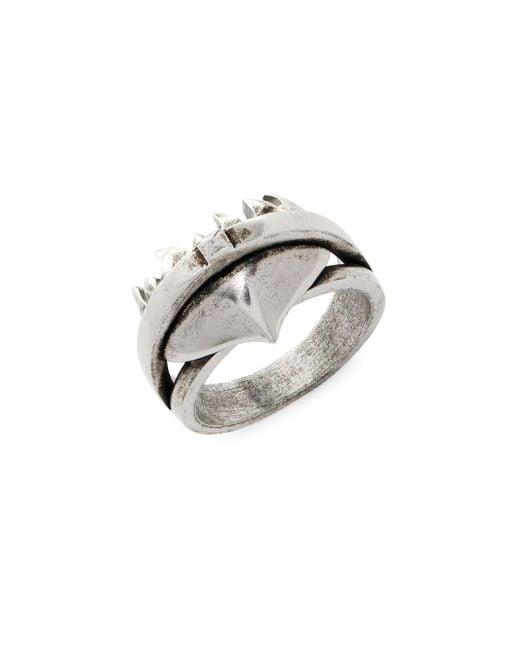 Valentino - Metallic Light Rustic Ring - Lyst