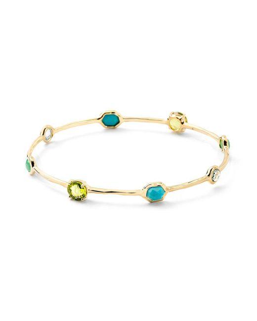 Ippolita - Metallic Rock Candy 18k Gold Multi-stone Bangle Bracelet - Lyst