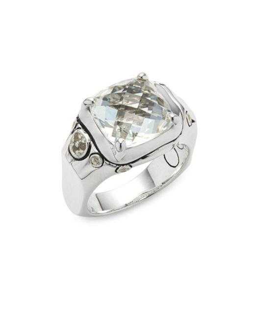 John Hardy | Metallic Batu White Topaz & Sterling Silver Ring | Lyst