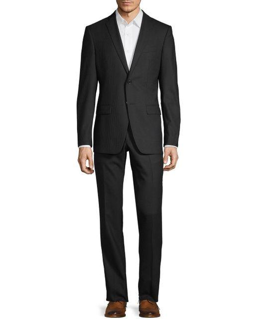 John Varvatos Black Slim-fit Wool-blend Suit for men