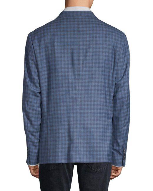 be54e1baf Original Penguin Checkered Slim-fit Sportcoat in Blue for Men - Lyst