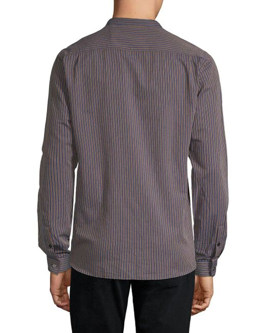 b6b6b3cc204 ... The Kooples - Blue Striped Button-down Shirt for Men - Lyst