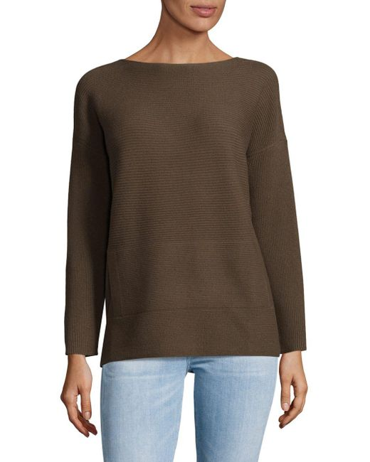 Lafayette 148 New York | Multicolor Ribbed Bateau Wool Sweater | Lyst