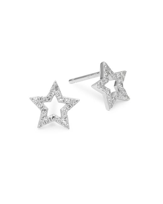 KC Designs - Metallic 14k White Gold & Diamond Star Stud Earrings - Lyst