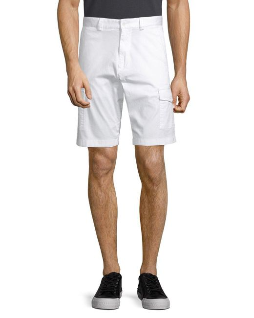 Paul & Shark - White Flat Front Shorts for Men - Lyst
