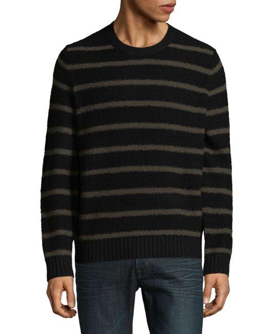 Vince - Black Wool Blend Textured Knit Sweater for Men - Lyst