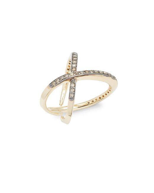 KC Designs   Metallic Champagne Diamond & 14k Yellow Gold Ring   Lyst