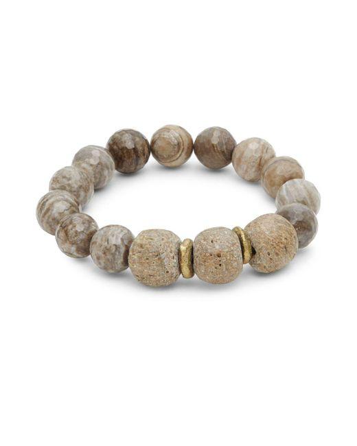 Shoshanna - Brown Brooke Silver Leaf Bracelet - Lyst