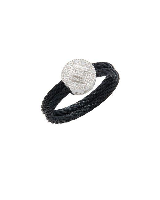 Alor - Black Diamond & 18k White Gold Solitaire Ring - Lyst