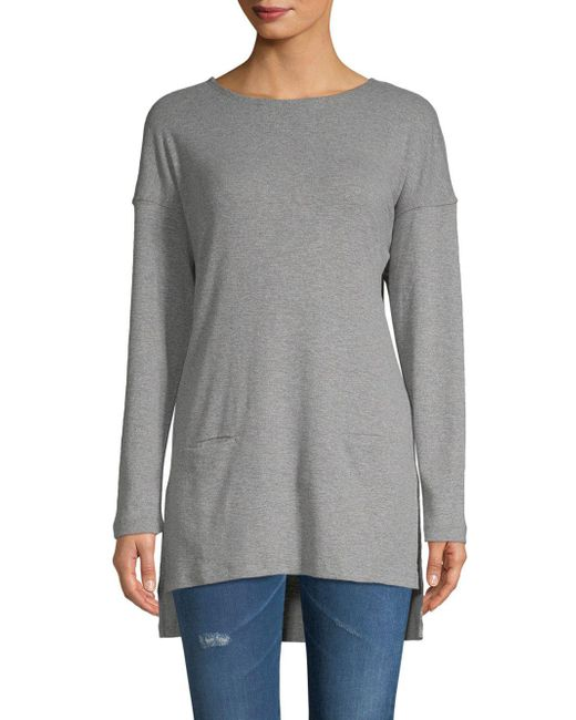 Ugg - Gray Luella Hi-lo Cotton Top - Lyst