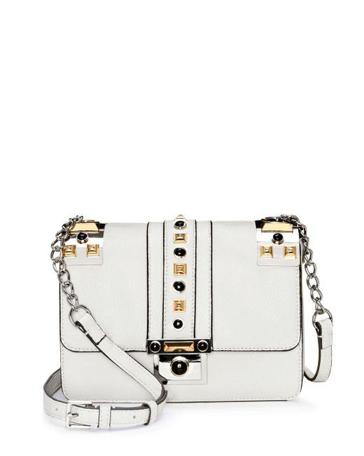 Vince Camuto - Gray Bitty Flap Leather Crossbody Bag - Lyst