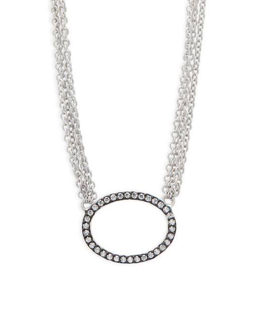 Freida Rothman - Metallic Sterling Silver Pave Ring Pendant Necklace - Lyst