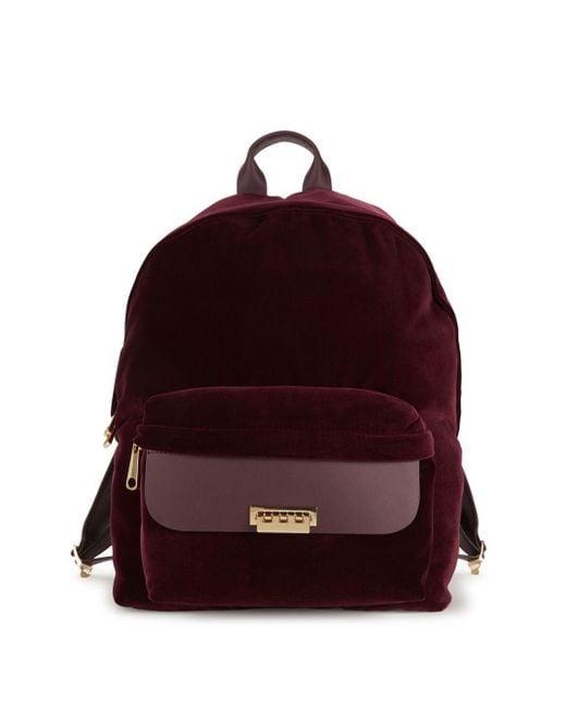 Zac Zac Posen - Purple Eartha Classic Velvet Backpack - Lyst
