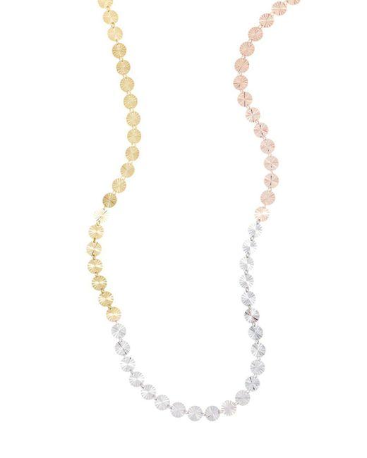 Lana Jewelry - Metallic 14k Tri-colored Gold Single Strand Necklace - Lyst